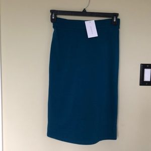 BOGO FREE teal midi knee stretch pencil skirt
